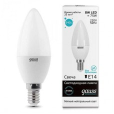 LED лампа Gauss Elementary Candle E14 6.0Вт 4100К