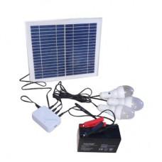 Комплект портативный: 10Вт СП, контроллер (без АКБ), LED лампа  SHTCFK-12A