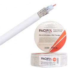 Кабель каоксиальный RG6 CCS/48AL PE Pacifix Tender белый