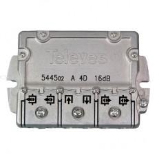 T4/16  5445 Televes, ответвитель на 16 дб, 4 TAP