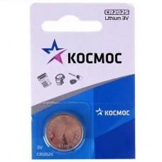 Батарея первичная литиевая CR2025 (КОСМОС) 3V