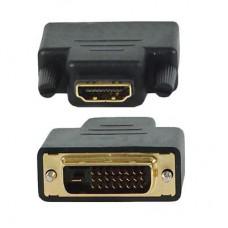 Переход HDMI(female) - DVI-D(male) пластик