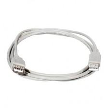 Кабель USB А(п) - А(м) 1.8м, серый 4-0057