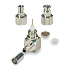 Разъем CRC9/TS9 угловой, обжимной под кабель RG174, RG316