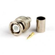 Штекер 9-0055(RG-6) BNC-6 обжим (медь)