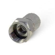 F-разъем для RG6, накрутка, D6.9мм, 20мм, две резьбы, медь H3004N 1/100
