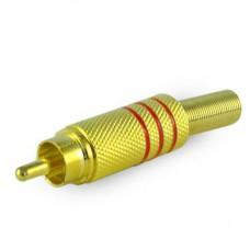 Штекер RCA метал GOLD